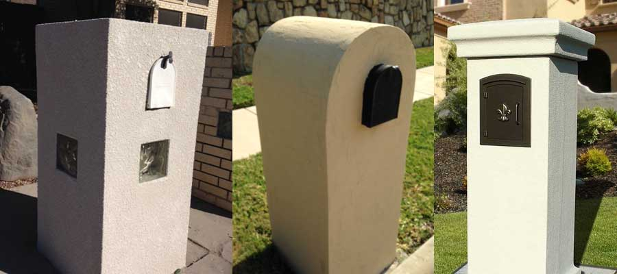 Stucco Locking Column Mailboxes - Budget Mailboxes